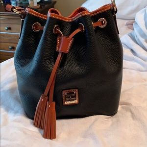 Dooney and bourke pebble leather drawstring